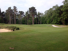 Large short game area with 3 bunkers
